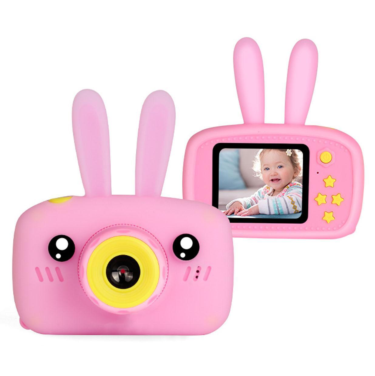 Детская Фото-видеокамера Bordo с ушками 1200P, дисплей 2.0 HD F4 Pink