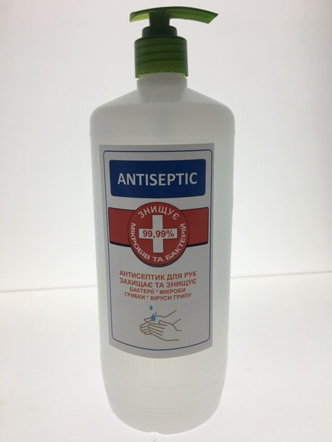 Антисептик для рук Antiseptic 1л с дозатором